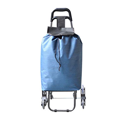 Sacs de shopping en plein air 1,7 kg chariot de magasinier pliant portable grande capacité 50L portant la roue porteuse forte escaliers s'élevants une voiture à double usage