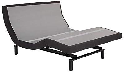 Leggett & Platt Base, Wireless, Wall Hugger, Massage, Pillow Tilt, Bluetooth Adjustable Bed, Queen, Dark Grey
