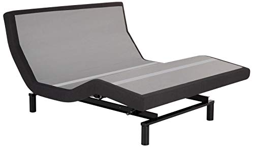 Leggett & Platt Base, Wireless, Wall Hugger, Massage, Pillow Tilt, Bluetooth Adjustable Bed, Queen, Dark Grey