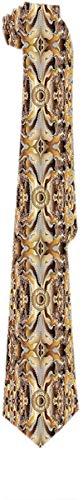 Corbata para Hombre Fantasía Psicodélica Abstracta Oro de Lujo Corbatas Clásicas Corbatas de Regalo Únicas Tejido Jacquard para Fiesta de Bodas de Negocios