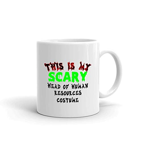 Mug This Is My Scary Head Off Human Resources Disfraz 330Ml Cumpleaos Blanco Taza De Porcelana Doble Cara Taza De Caf Duradera Impresa Taza De Cermica De Cacao nica Personaliz