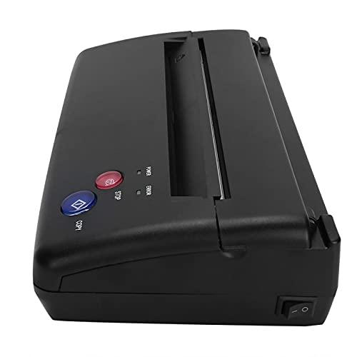 Tattoo Transfer Machine, Mini Tattoo Transfer Stencil Machine Thermal Copier Printer Tatttoo Supplies for Tattoo Artists(Black)(US Plug)