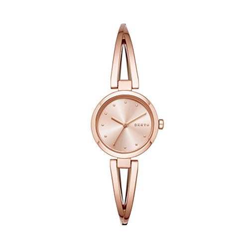DKNY Women's Crosswalk Quartz Stainless Steel Three-Hand Watch, Color: Rose Gold (Model: NY2812) Massachusetts