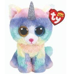 "Ty Beanie Boos 6"" Heather Uni-Kitty, Perfect Plush!"