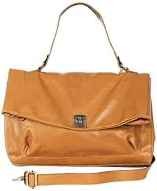 Mimi in Memphis Ellis Satchel Bag Color: Gold 100% Leather Handcrafted by Artisans