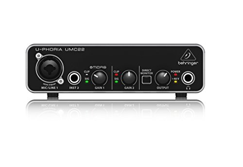 Behringer U-PHORIA UMC22 interfaccia audio 2x2 USB con PREAMP Microfonico