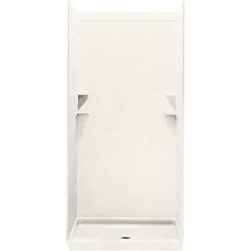 Sale!! Swan SS0629601.018 Solid Surface Glue-Up 1-piece Shower Wall Panel, 0.25-in L X 62-in H X 96-...