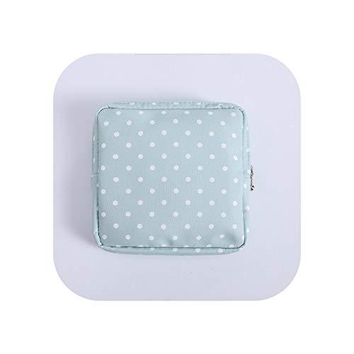 Lovely Women Girl Simple Pattern Organizer Geldbörse Serviette Handtuch Aufbewahrungsbeutel Kosmetikbeutel Fall Tasche-grüner Punkt-