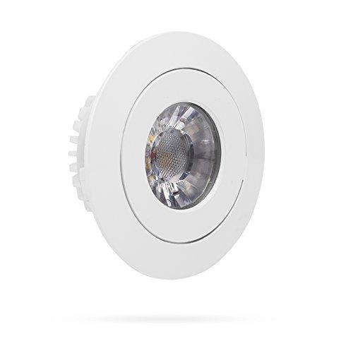 Preisvergleich Produktbild Smartwares LED Einbauspot mit Dimmfunktion,  7, 5 cm Durchmesser,  350 lm,  Plastik,  4.5 W,  Weiß,  3, 5 x 9 x 9 cm