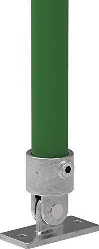 Fenau | Variable-Stütze/Gelenk-Fuss, Ø 33,7 mm, Rohrverbinder, Boden-Flansch, Temperguss galvanisiert,...