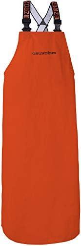 Grund ns Men s Shoreman Double Sided PVC Fishing Apron Orange One Size product image
