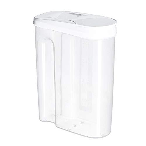 L-DiscountStore 1,8 l / 2,5 l Getreidebehälter Aufbewahrungsset Luftdichter Aufbewahrungsbehälter für Lebensmittel Großer, klarer Kunststoff-Getreidespender