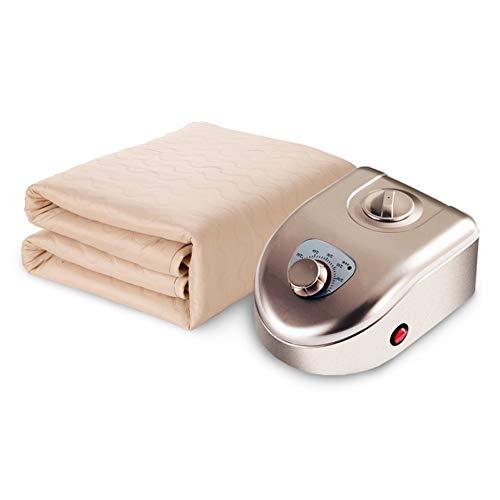 LIANG - Colchoneta de colchón con calefacción, manta térmica, segura y sin radiación, calefacción más rápida/apagado automático (color: marrón, tamaño: 0,8 x 1,8 m/31 x 70 pulgadas)