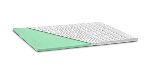 Kaltschaum Topper Matratzenauflage | 7 cm Gesamthöhe | abnehmbarer und waschbarer Bezug | Classic Bezug| H2 - weich | 160 x 200 cm