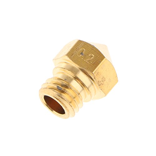 3DPrinter 0.2mm Extruder Brass Nozzle Printhead for MK10 Makerbot 1.75 mm