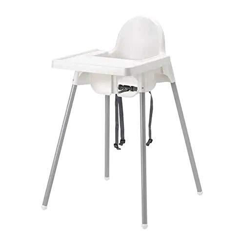 IKEA Antilop Kinderstoel met dienblad, Wit Kleur: wit