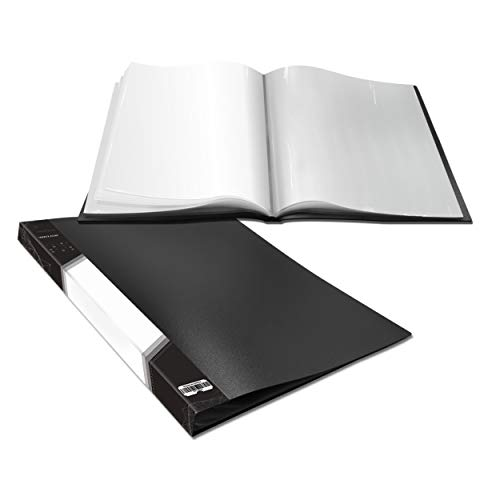 Presentation Book 40 Clear Pockets Sleeves Protectors Art Portfolio Clear Book for Artwork, Report Sheet, Letter (8.5x11.5inch)