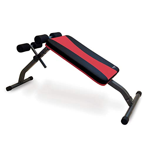 Pure Fitness Adjustable Ab Bench, Red