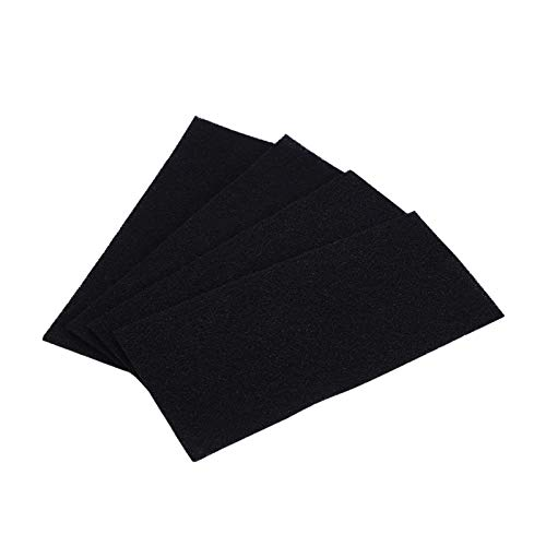 Activated Carbon Media Pad, 4pcs 9.5 x 4 inch Sponge Filter Foam Sheet Replacement for Holmes Air Purifier