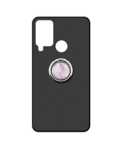 Sunrive Funda para DOOGEE N20 Pro, Silicona Mate Gel Carcasa Case Bumper Anti-Arañazos Espalda Cover Anillo Kickstand 360 Grados Giratorio(Mármol Rosa) + 1 x Lápiz óptico