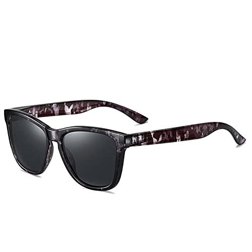 LCISCOUP Gafas Sol Gafas de Sol de Espejo de Gafas de Sol de Estilo Joven de Moda Unisex (Frame Color : Polarized, Lenses Color : Black Q6)