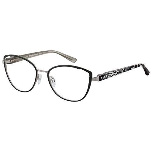 Change Me Brille 2520-2 mit Wechselbügel 8750-2 silber schwarz