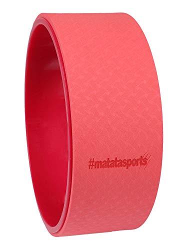 matatasports Yoga Rad für Damen Herren Unisex - rutschfest und Stabiler Yoga Wheel Rolle Reifen Ring - Hochwertiges Fitness Zubehör für Dehnübungen, Rückenbeugen, Flexibilität und Balance