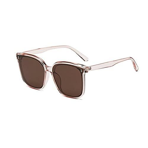 Cómodas y exquisitas Gafas de Sol de Montura Grande cuadradas Retro UV400 con Almohadilla para la Nariz integrada y bisagra de Metal