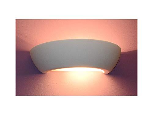 Wandlampen Keramik Wandleuchte Lampen für Küche Flur Schlafzimmer Wohnzimmer Leuchte Gips Gipslampe modern weiß