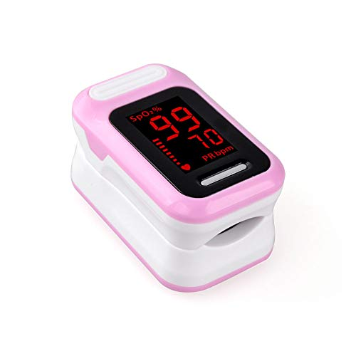 LOY Fingerspitzen-Pulsoximeter Blutsauerstoffsättigungs-Monitor Alarm Patient Krankenhaus-Ausgangssensor LED-Anzeigesystem Sound,Pink
