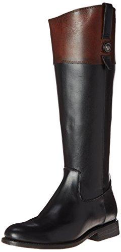 FRYE Women's Jayden Button Tall-SMVLE Riding Boot, Black/Multi, 8.5 M US