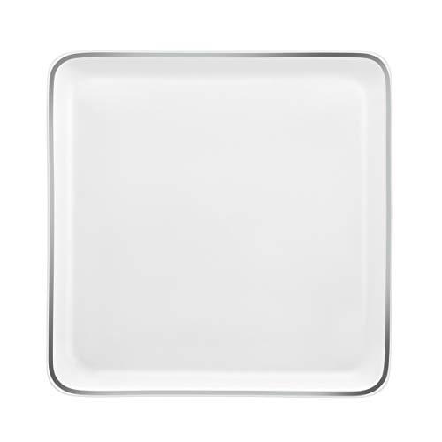Médard de Noblat MY75CCB0001PM Yaka Argentic Assiettes plates carrées