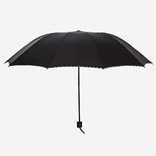 YUSHIJIA Parapluie Portable léger Parapluie Classique Manuelle Manuelle pouliche et armé, Ombre renforcée Parapluie Noire Parapluie Robuste, Coupe-Vent et imperméable
