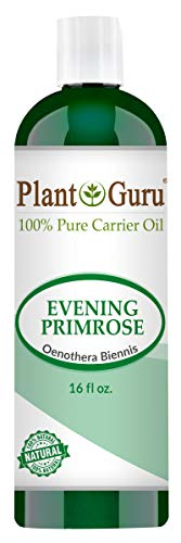 Evening Primrose Oil 16 oz Cold Pressed 100% Pure Natural Carrier - Skin, Face, Body and Hair Growth Moisturizer. Great For DYI Creams, Lotions and Lip balms.