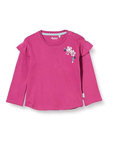 Sigikid Baby-Mädchen Langarmshirt aus Bio-Baumwolle, Größe 062-098 Pullover, Pink/Blumen, 92