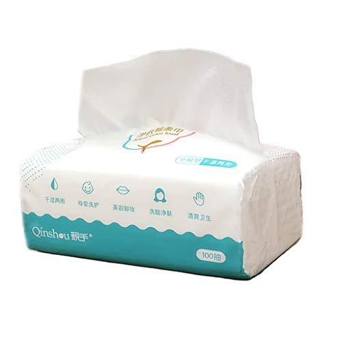 BIlinli Tissus en Coton Non Pelucheux, essuyage à Sec Extra épais pour Serviette pour Le Visage pour Peaux sensibles Tissu en Coton Non tissé