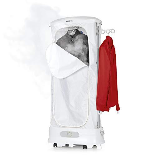 MAXXMEE Wäschepflege-Center 3-in-1 | 5 Hemden gleichzeitig | schonend glätten und auffrischen mit Wasserdampf, schnell trocknen | 1350W [weiß ]