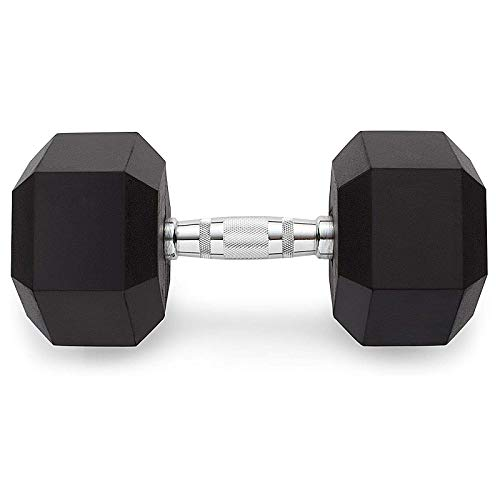 XIJING Hex Hanteln Gummi Schwere Hantel/Langhantel mit Metallgriffen Einzelgewicht 12,5 kg für das Heim-Fitnessstudio
