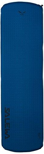 Salewa Mat Lite Colchoneta térmica autohinchable con Cierre rápido, 183 cm Longitud, Adultos Unisex, Pacific Blue/Gris, Talla Única