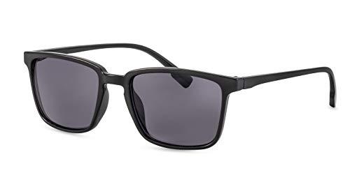 Primetta Herren Sonnenbrille/Modische Sonnenbrille mit eckiger Fassung/In Schwarz F2500101