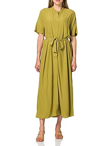 ESPRIT Collection 051EO1E305 Vestito, 360/OLIVE, S Regular Donna