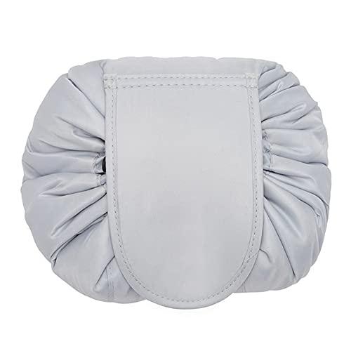 Makeup -arrangör med dragsko, Lazy Cosmetic Storage -väska Kosmetik- och toalettväska för resor och daglig användning för damflickor utomhusresor kosmetiska väskor,F