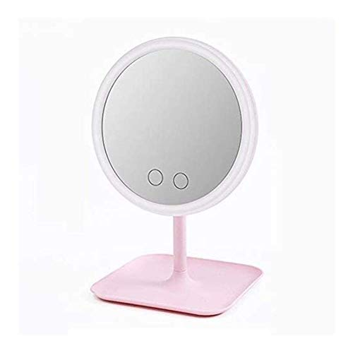 DNGDD Espejo de Maquillaje Espejo de tocador con luz, Espejo LED para Mujer Maquillaje Espejo retroiluminado con luz con LED Blanco Natural Espejo de tocador con luz Diurna Desmontable