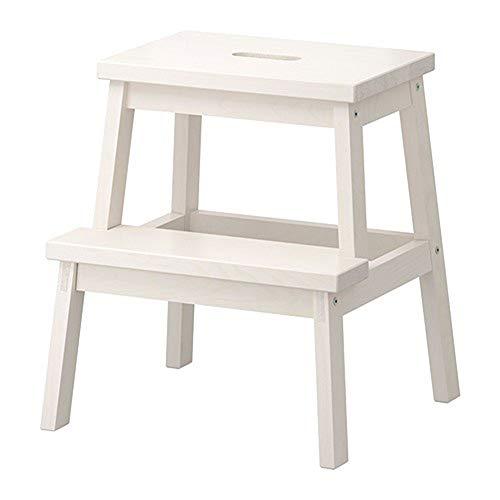 ZfgG Escabeau en Bois Solide de ménage, Chaise en Bois d'échelle d'intérieur à Double Usage d'échelle pour Le Tabouret Ascendant de Chaussures