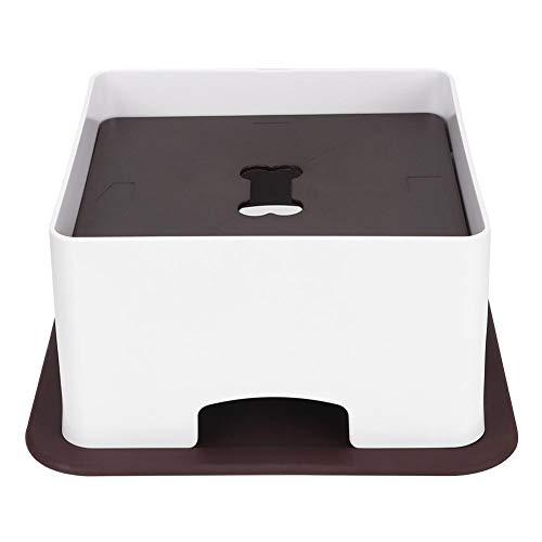 Zerodis Fütterungstisch für Haustiere, Verstellbarer Katzen-Esstisch aus Kunststoff mit rutschfestem Silikonkissen für kleine Hunde Katzen(L.)