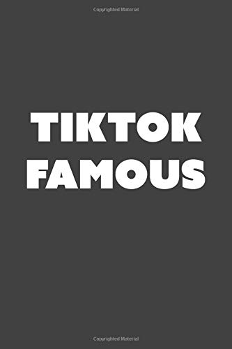 Tiktok famous.: A Dotted Notebook Journal for Tiktok Lovers and Enthusiasts. Perfect gift for teens, boys and girls!