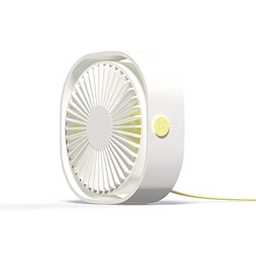 MXT-RM USB-ventilator, kleine en grappige tafelventilator, oplaadbaar, energiebesparend, draaibaar, draagbaar, 3 snelheden, voor slaapkamer/kantoor/outdoor
