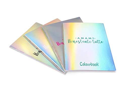 Cuaderno Maxi A4 Colourbook grapado colorido iridiscente 10 piezas rayas cuadriculadas - (1r-5 mm) selección de papelería Varzi desde 1956
