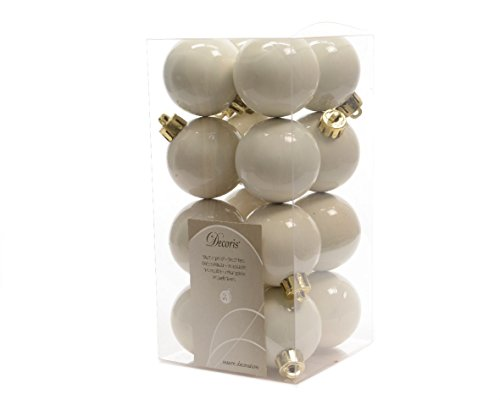 Decoris fizzco?sfere di Natale (da) Pack of 16 x 40mm Bianco lana