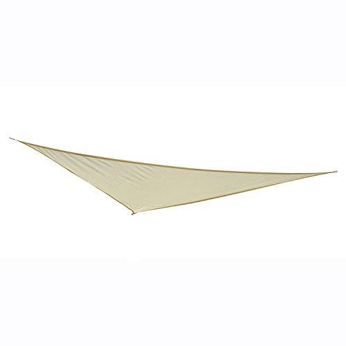 Outsunny Tenda a Vela Tendone Parasole Triangolare in Poliestere (Colore: Bianco, Dimensione: 6x6x6m)